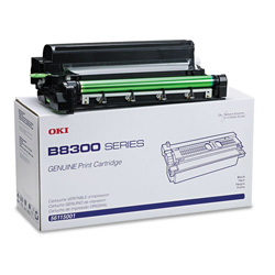 Okidata Toner Cartridge for B8300 Series, 27,000 PaYield, Black