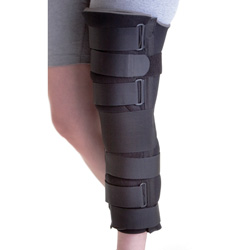 "Medline 19"" Deluxe Foam Cut-Away Knee Immobilizer - Immobilizer, Knee, Cut Away, Dlx, 19"", Unv, Ea"