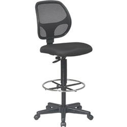 "Office Star WorkSmart Deluxe Drafting Chair - 26"" x 23"" x 50.3"""