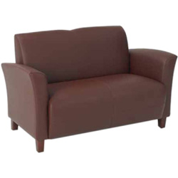 "Office Star Breeze SL2273 Eco Leather Sofa - 72"" x 28.5"" x 32"" - Leather Mocha Seat"