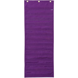 "Pacon Pocket Chart, Dry Erase Activity, 13"" x 34"", Purple"