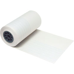 "Pacon Ruled Newsprint Roll, 7/8"" Ruling, 7/16"", 12"" x 500', White"