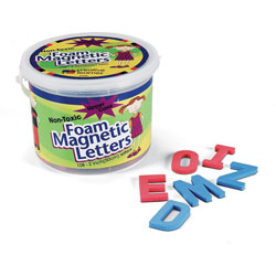 "Pacon Magnetic Alphabet Letters, Foam, Upper Case, 2"" 108Ct."