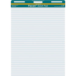 "Pacon Easel Pad, Perforated, 1"" Ruled, 27x34"", 50 Sheets, White"