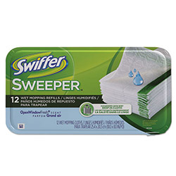 Swiffer® Sweeper System Premoistened Wet Refill Cloths, 12 Cloths per Box