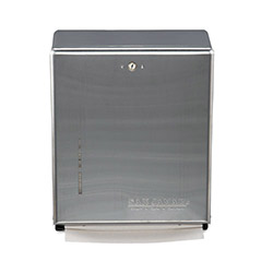 San Jamar Wall Mount C-Fold / Multi-Fold Paper Towel Dispenser, Stainless Steel