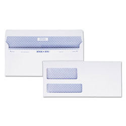 "Quality Park Reveal-n-Seal® Envelope, Dble Window, 3-7/8"" x 8-7/8"", 500/Box, White"