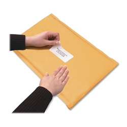 "Quality Park Bubble Mailer, with Malling Labels, 12""x18"", 10/BX, Kft"