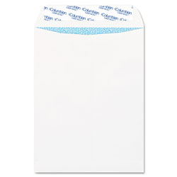 Quality Park Grip-Seal Security Tinted Catalog Envelopes, 9 x 12, 28lb, White Wove, 100/Box