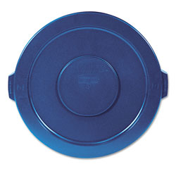 "Rubbermaid Round Lid for Brute 32 gal Waste Containers, 22 1/4"" Diameter, Blue"