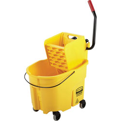 Rubbermaid WaveBrake® Combination Mop Bucket, Yellow