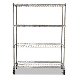Rubbermaid Prosave Shelf Ingredient Bins Mobile Rack 50 In