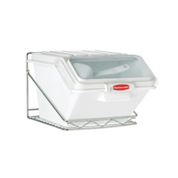 Rubbermaid Prosave Shelf Ingredient Bins All Mounted Rack