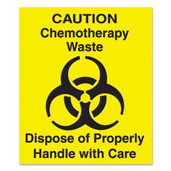 Rubbermaid Decal Chemotherapy 6in Sq Yel