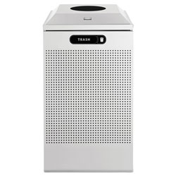 Rubbermaid Silhouette™ Silver Recycling Bin, 29 Gallon