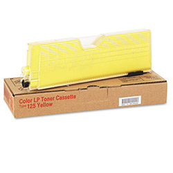 Ricoh Toner Cartridge, Type 125, for CL3000, Yellow