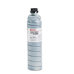 Ricoh Copier Toner for Aficio 340, 350, 355, 450, 455 (Type 3100D), Black