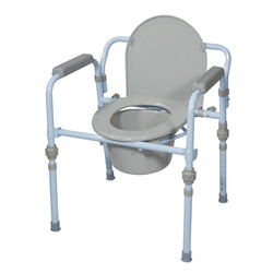 Drive Medical Folding 3 & 1 Commode, Blue Powder