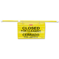 "Rubbermaid Bright Yellow Site Safety Hanging Sign, 27 3/4"" x 13"""