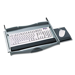 Safco Ergo Comfort® Premium Underdesk Keyboard/Mouse Drawer, Charcoal