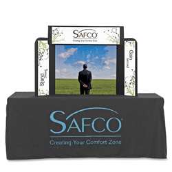 Safco Economy Tabletop Exhibit, 46 x 9 x 32, Black