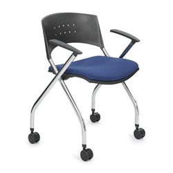 Safco xtc. Nesting Chair, Blue/Chrome