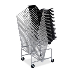 "Safco Steel Chair Cart, Sled Base, 23-1/2""x27-1/2""x17"", SR"