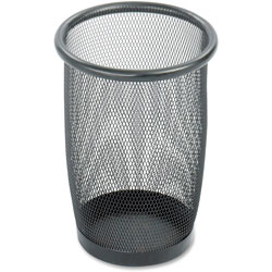 Safco Round Steel Desk Wastebasket, 3 Quart, Black