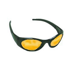 Sas Safety Stingers High Impact Safety Glasses Black Frames/Yellow Lens
