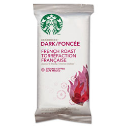 Starbucks Coffee, French Roast, 2.5 oz Bag, 18 Bags/Box. Box of 18