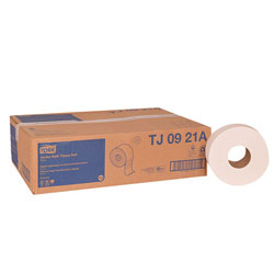 SCA Tissue Jumbo Roll Bath Tissue, 2 Ply, White