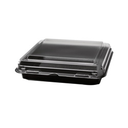 Solo Lunch Box, 1-Comp, Black/Clear, 32oz, 7.91w x 7.91d x 1.81h