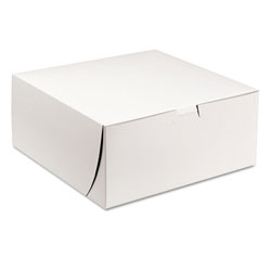 "Southern Champion White Bakery Boxes, 9"" x 9"" x 4"", Case of 200"