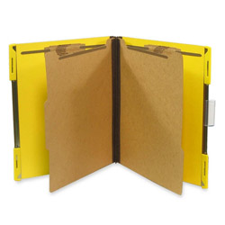 "Selco Industries Hanging Classification Folder, w/2"" Fasteners, Letter, 10/Box, Yellow"