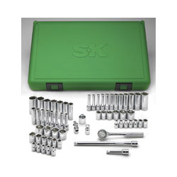 "S K Hand Tools 60 Piece 1/4"" Drive Fractional and Metric Socket Set"