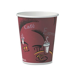 Solo Bistro Design Hot Drink Cups, Paper, 10 oz., 50/Pack