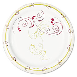 "Solo Disposable 6"" Paper Plates, Nature Design, Pack of 8"