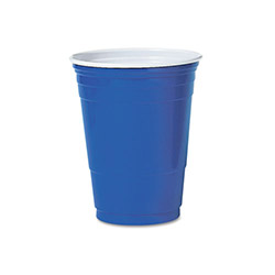 16 Oz Cold Plastic Cups, Blue, Pack of 50 1 Bag Per Case.50 Cups Per Bag.