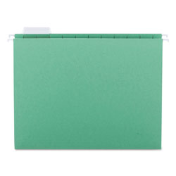 Smead Hanging Folders, Recycled, Letter, Bright Green, Color Matched 1/5 Tabs, 25/Box