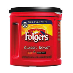 Folgers® 100% Mountain Grown Ground Coffee, Regular. Case of 6