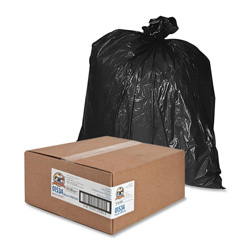 Sparco Black Trash Bags, 45 Gallon, 1.5 Mil, Box of 50