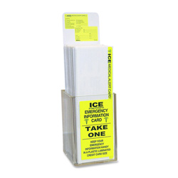 Tabbies Emergency Inoformation Card Display, 150 Cards, FL/Yellow