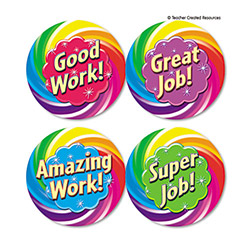 "Sticker Books, Good Work Wear `em Badges, 2 3/8"". Pack Of 32 Picture"