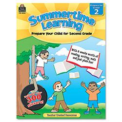 Teacher Created Resources Summertime Learning, Reading, Writing, Math, Grade 2, 112 Pages