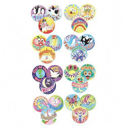 Stinky Stickers Praise Word Jumbo Pack, 432 Large Round 432.1. Picture