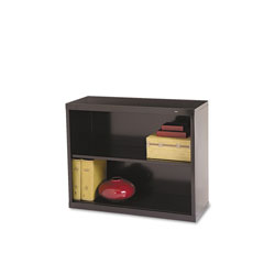 "Tennsco Black Metal Bookcase, 28"" High, One Adjustable Shelf"