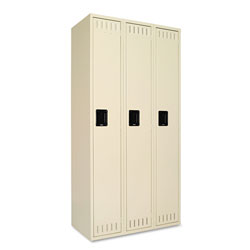 Tennsco Single Tier Three Locker Unit, 36w x 18d x 72h, Sand