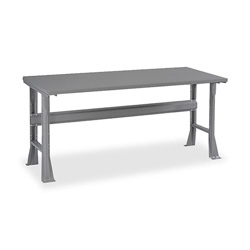 "Tennsco Steel Top Workstation, 60""x30""x33-1/2"", Medium Gray"