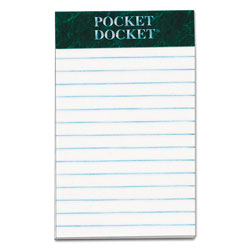 TOPS Docket® Legal Ruled Perforated Pad, 16#, 3x5, White, 50 Sheets/Pad, 12/Pack