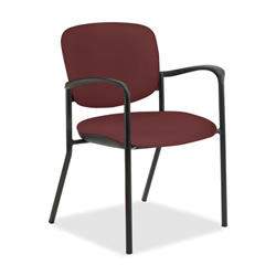 United Chair Brylee BR32 Guest Chair with Arms - Olefin Maroon Seat